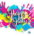 Happy Holi background vector image vector image