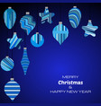 happy new year dark blue background vector image vector image