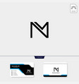 initial m monogram logo template free your vector image vector image