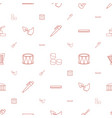 instrument icons pattern seamless white background vector image vector image