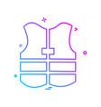 jacket icon design vector image