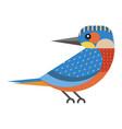 kingfisher bird geometric icon in flat design vector image vector image