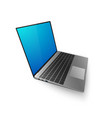 laptop mock up 3d laptop with bkue screen for you vector image vector image