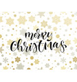 merry christmas holiday snowflake pattern vector image vector image
