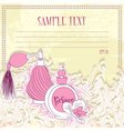 Message card with perfume vector image vector image