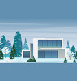 modern cottage house vector image vector image