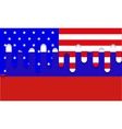 modern usa and russia flag background vector image vector image