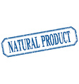 natural product square blue grunge vintage vector image vector image