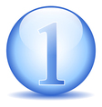 Number one button vector image vector image