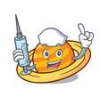 nurse planet saturnus character cartoon vector image vector image