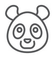 panda line icon animal and zoo vector image