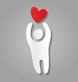 paper love person heart template vector image