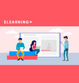 People elearning banner flat style