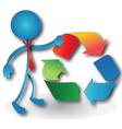 People with a recycling symbol vector image vector image