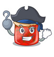 pirate character homemade strawberry marmalade in vector image vector image