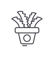 plant in the potoffice cactus line icon vector image