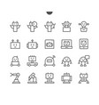 robots pixel perfect well-crafted thin line vector image vector image