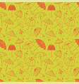 seamless pattern with red umbrellas on green vector image vector image