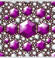 seamless violet crystals pattern vector image vector image