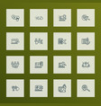 search icons line style set with photo vector image vector image