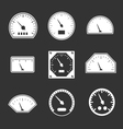 Set icons of speedometers vector image vector image