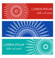 set of abstract horizontal header banners vector image