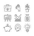 set of business and finance icons in sketch style vector image