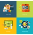 Set of flat design concept icons for entertainment vector image vector image