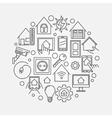 Smart home circular line vector image vector image