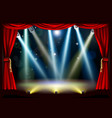 spotlight theatre stage vector image vector image