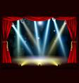spotlight theatre stage vector image vector image