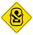 Sticker Baby on board Symbol of a baby in car seat vector image