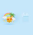 summer sale 3d banner design realistic render vector image