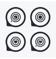 Target aim icons Darts board signs symbols vector image