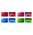 templates realistic detailed credit cards set vector image