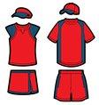 tennis uniforms vector image vector image