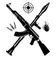 The coat of arms from a gun vector image vector image