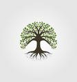 tree logo vintage nature symbol design vector image vector image