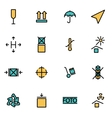 Trendy flat line icon pack for designers and vector image vector image