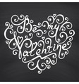 Valentines Day Blackboard background vector image vector image