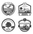 vintage natural healthy emblems collection vector image vector image