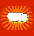 bright abstract pop art comic book splash cloud vector image