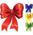 Color festive Christmas bow red green blue yellow vector image