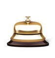 3d realistic golden service hotel reception bell vector image