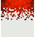 Abstract technology background with triangle vector image vector image