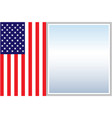 american flag border vector image vector image