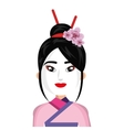 beautiful geisha character icon vector image vector image