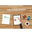 bep break even point graph chart and vector image vector image