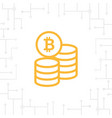 bitcoin coin flat icon vector image