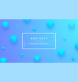 blue background with a combination modern cubes vector image